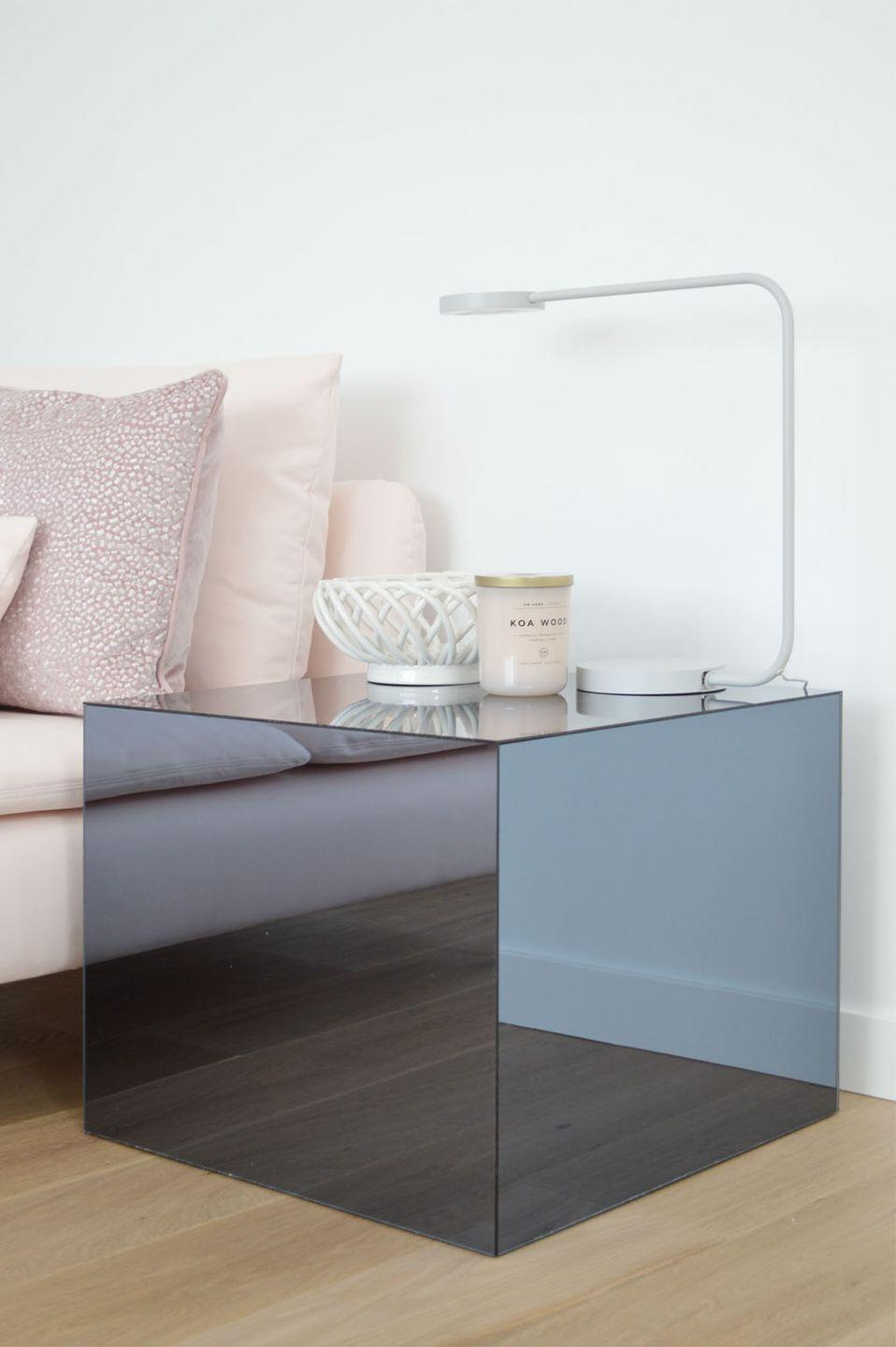 """<p>This plexiglass covered table by Kristina of <a href=""""http://www.ichdesigner.com/2018/03/14/ikea-lack-hack/"""" rel=""""nofollow noopener"""" target=""""_blank"""" data-ylk=""""slk:Ich Designer"""" class=""""link rapid-noclick-resp"""">Ich Designer</a> is beyond chic.</p><p>See more at <a href=""""http://www.ichdesigner.com/2018/03/14/ikea-lack-hack/"""" rel=""""nofollow noopener"""" target=""""_blank"""" data-ylk=""""slk:Ich Designer"""" class=""""link rapid-noclick-resp"""">Ich Designer</a>.</p>"""
