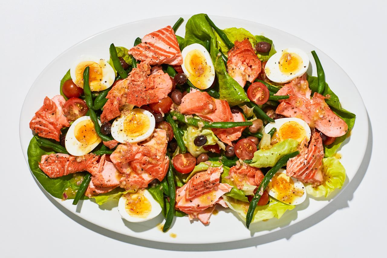 "We love a classic Niçoise salad made with fancy oil-packed tuna, but using warm, slow-roasted salmon instead makes the whole thing feel a little more special. About that slow-roasted salmon: It is, hands down, the most foolproof way of achieving tender, perfectly-cooked fish we have ever come up with, no hot pan or sizzling oil necessary. <a href=""https://www.bonappetit.com/recipe/summer-salmon-nicoise?mbid=synd_yahoo_rss"">See recipe.</a>"