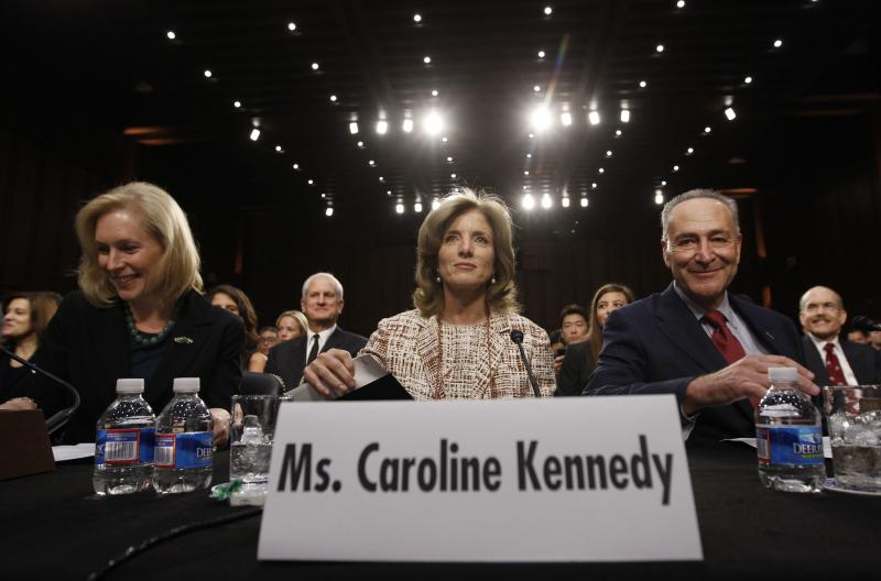 Caroline Kennedy arrives to testify at her U.S. Senate Foreign Relations Committee hearing on her nomination as the U.S. Ambassador to Japan, in Washington