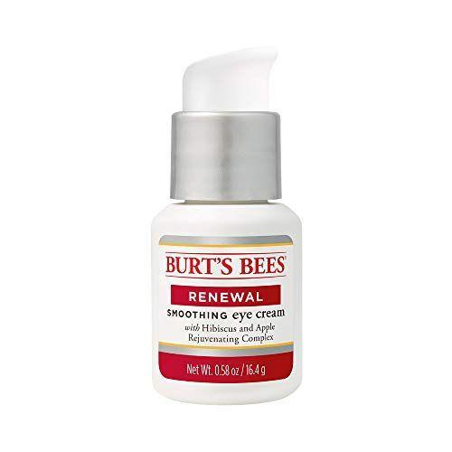 """<p><strong>Burt's Bees </strong></p><p>walmart.com</p><p><strong>$14.75</strong></p><p><a href=""""https://go.redirectingat.com?id=74968X1596630&url=https%3A%2F%2Fwww.walmart.com%2Fip%2FBurt-s-Bees-Renewal-Smoothing-Eye-Cream-Firming-Eye-Cream-0-58-oz%2F43583953&sref=https%3A%2F%2Fwww.goodhousekeeping.com%2Fbeauty%2Fanti-aging%2Fg26858923%2Fbest-eye-creams%2F"""" rel=""""nofollow noopener"""" target=""""_blank"""" data-ylk=""""slk:Shop Now"""" class=""""link rapid-noclick-resp"""">Shop Now</a></p><p>A great drugstore buy packed with plant extracts, this Burt's Bees formula is luxe-feeling and rich. GH Beauty Lab evaluations showed<strong> it improved skin's moisturization by 21% and increased firmness by 18%</strong>. You'll likely want to apply it overnight, since its thick texture takes some time to absorb into skin. One tester said, """"It left my eye area much more moisturized, and made it much easier to apply eye makeup!""""</p>"""