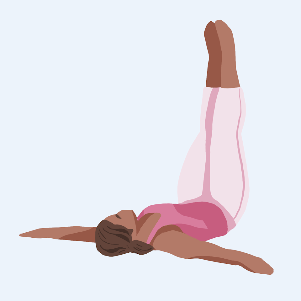 Bed Yoga Pose: Legs up the wall stretch
