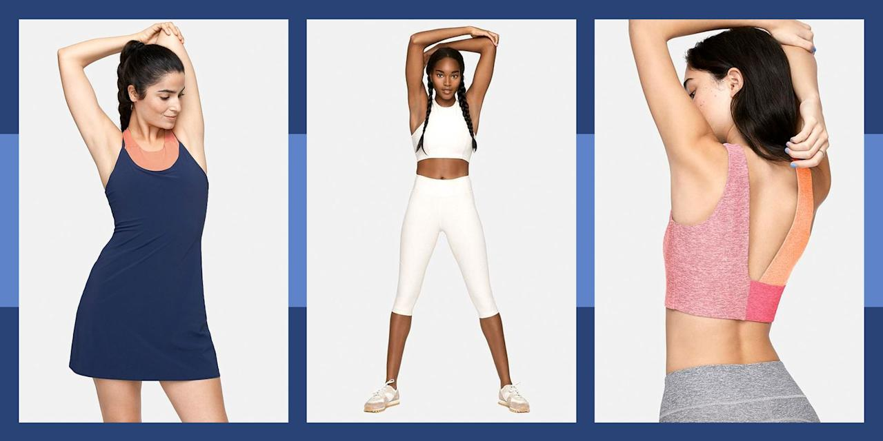<p>Athletic apparel is one of those things that has a shorter shelf life. By nature of the fact that you <em>ideally </em>sweat in it, you probably should replace it more often than you do. But who wants to let go of that super cute workout set that they snapped up only 8 months ago? Thankfully, Outdoor Voices makes not only some of the most stylish athletic apparel around, but they also happen to be running a 50-percent-off deal on many of their OV Extras (which are final sale). All you have to do is enter your email for access, and you can shop away at their chicest sports bras, leggings, tennis dresses, and leotards in bright and peppy colors, so you can replace the tired items in your athletic wardrobe without any guilt. Here, our favorites. </p>
