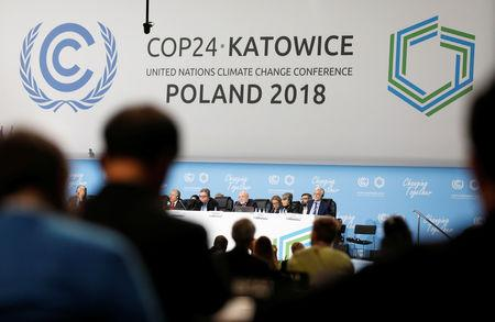 FILE PHOTO: Participants take part in the plenary session during COP24 U.N. Climate Change Conference 2018 in Katowice, Poland December 4, 2018. REUTERS/Kacper Pempel