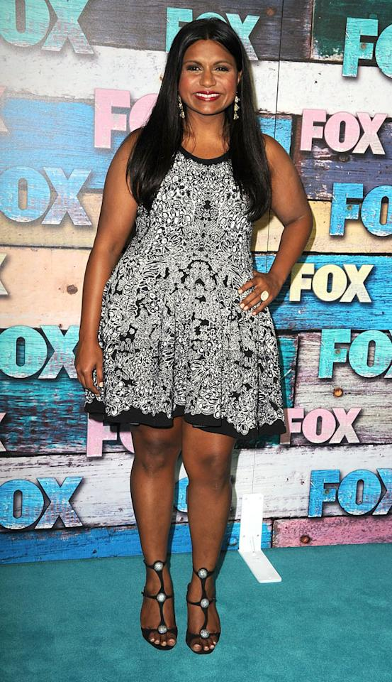"""Mindy Kaling (""""The Mindy Project"""") arrives at the Fox Summer 2012 All-Star Party on July 23, 2012 at the Soho House in West Hollywood, California."""