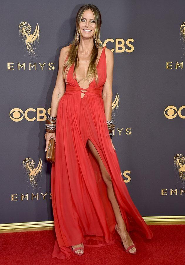 Supermodel Heidi Klum was looking ravishing in this risqué number. Photo: Getty
