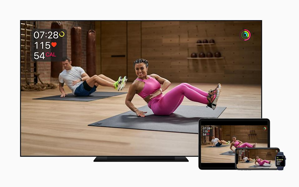 Apple Fitness+ is the company's first foray into fitness services, and will be available for $9.99 when it launches later this year. (Image: Apple)