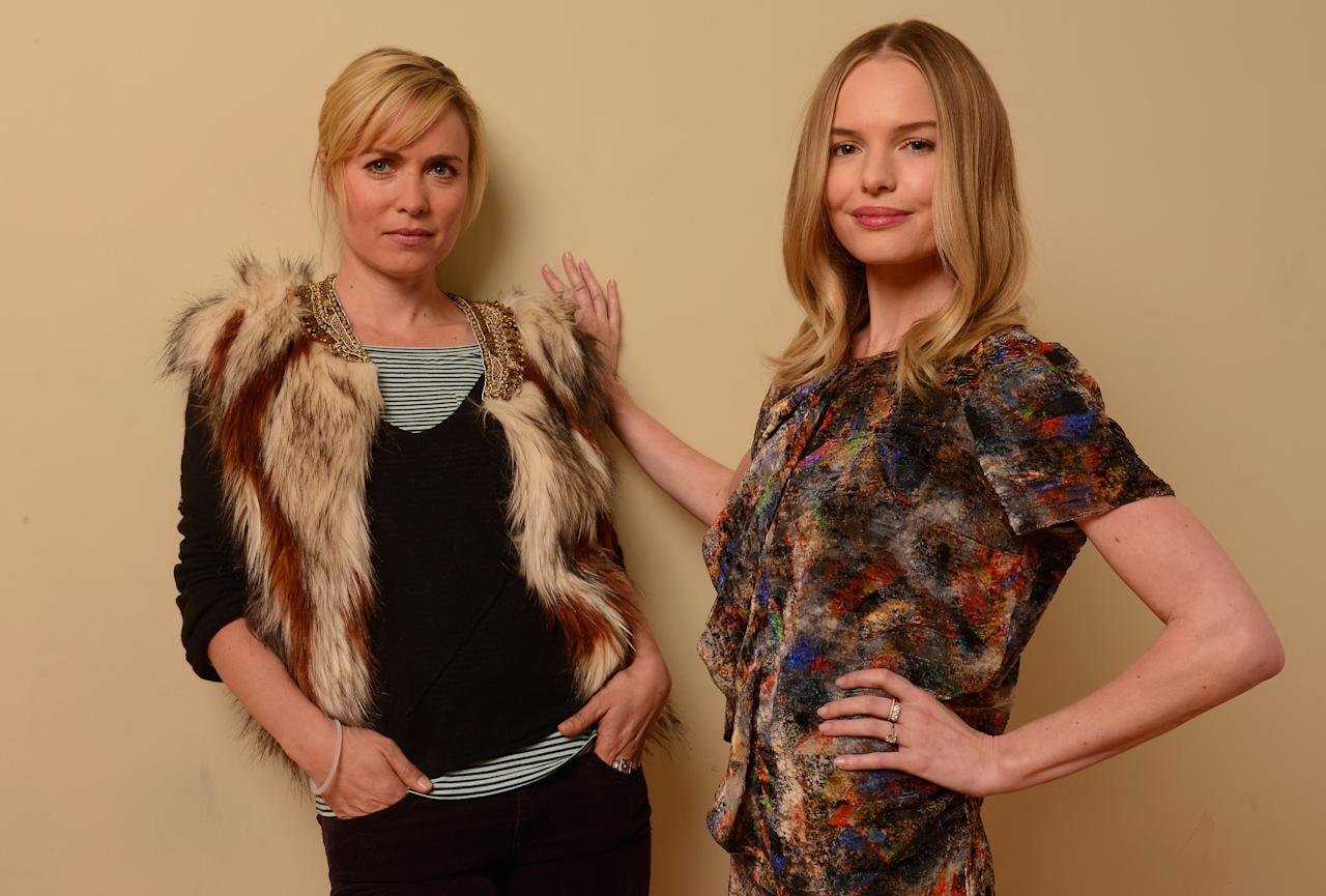 PARK CITY, UT - JANUARY 22:  Actresses Radha Mitchell (L) and Kate Bosworth pose for a portrait during the 2013 Sundance Film Festival at the Getty Images Portrait Studio at Village at the Lift on January 22, 2013 in Park City, Utah.  (Photo by Larry Busacca/Getty Images)