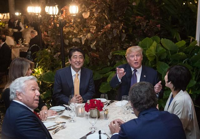 Image Donald Trump and Shinzo Abe at Mar-a-Lago Nicholas Kamm  AFP - Getty Images file