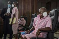 "Paul Rusesabagina, who was played by American actor Don Cheadle in 2004's ""Hotel Rwanda"" on trial in Kigali on Wednesday"