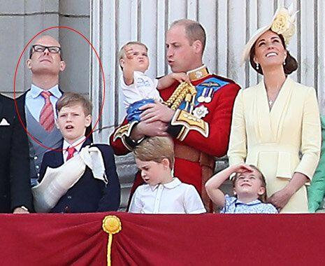 Lord Nicholas Windsor and Louis Windsor pictured at 2019 Trooping the Colour