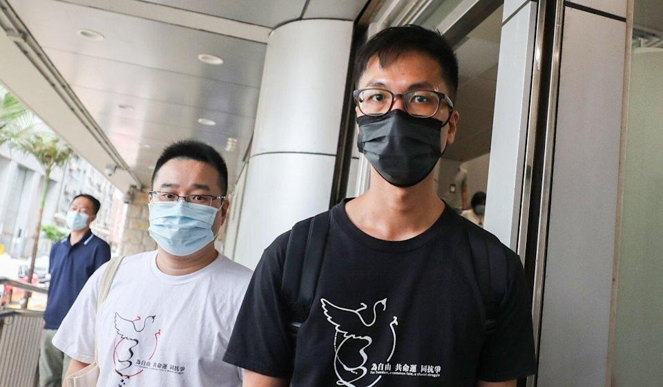 Alliance member Simon Leung (right) said he was holding out hope Chief Secretary Matthew Cheung would respond favourably to the group's request. Photo: Xiaomei Chen