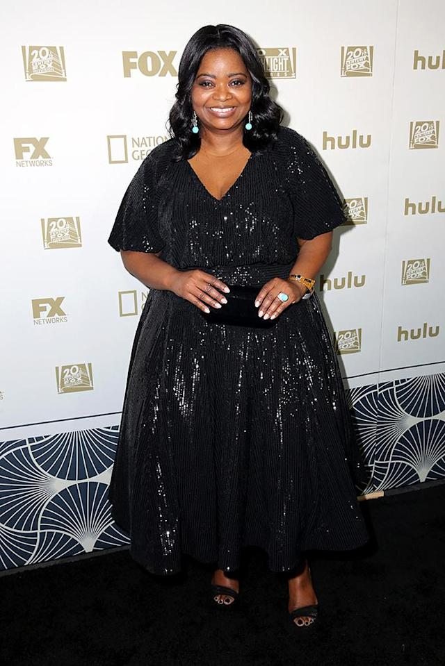 <p>Octavia Spencer attends Hulu's Golden Globes party at the Beverly Hilton Hotel. (Photo: Rachel Murray/Getty Images for Hulu) </p>