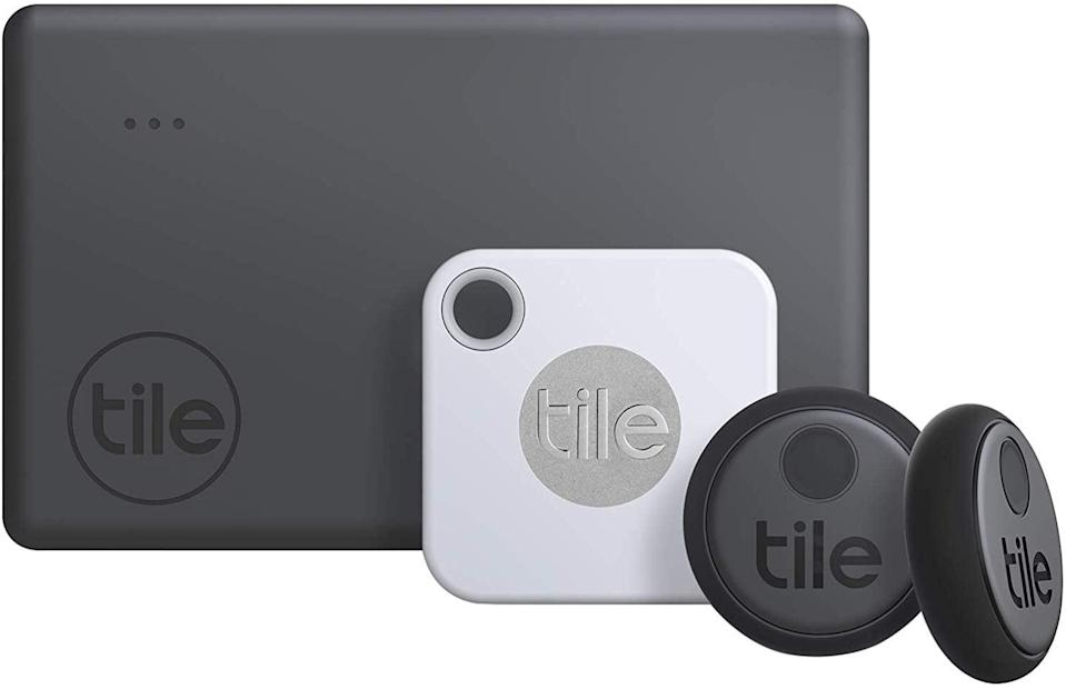 <p>They'll never lose anything again with this handy <span>Tile Essentials</span> ($69) set.</p>