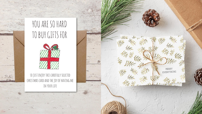 Best gifts to send 2020: Greeting cards.