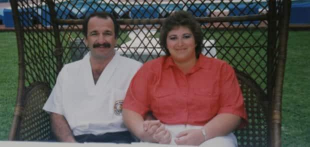 Sheree and Greg Fertuck pictured at their wedding in Puerto Vallarta, Mexico, in 1991.  (Submitted by Teaka White - image credit)