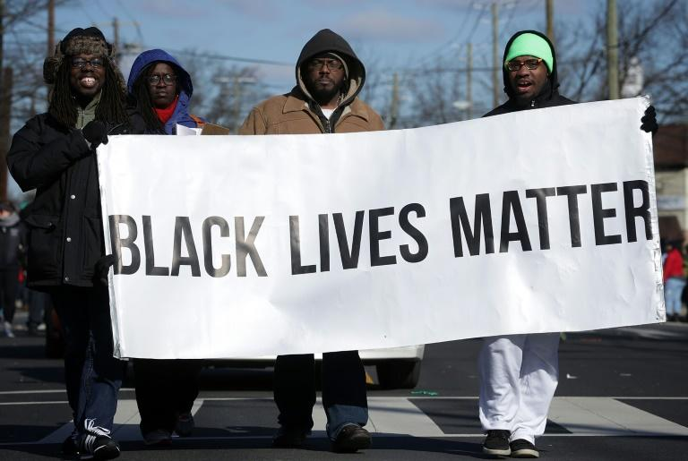 A Black Lives Matter demonstration to protest police shootings of African-Americans