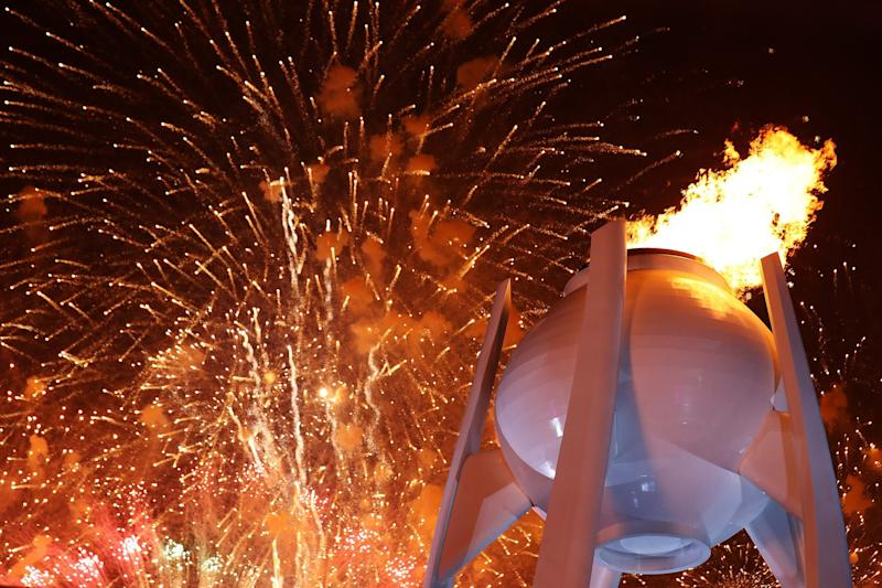 When is the Winter Olympics closing ceremony? What time does the closing ceremony start?