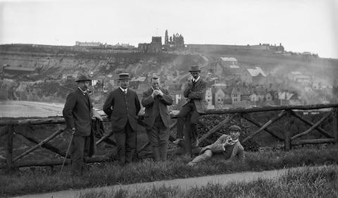 A day in Whitby. The chap on the right just fancied a lie down - Credit: THE MONTIFRAULO COLLECTION