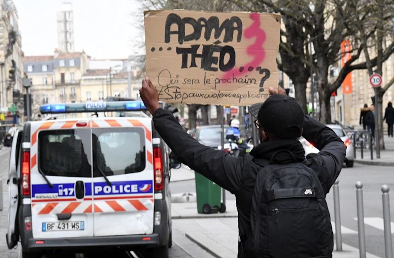 The French interior ministry said 245 people had been arrested in protests that began on February 4, after a young man named Theo suffered severe anal injuries requiring hospital treatment during his arrest by four police officers (AFP Photo/MEHDI FEDOUACH)
