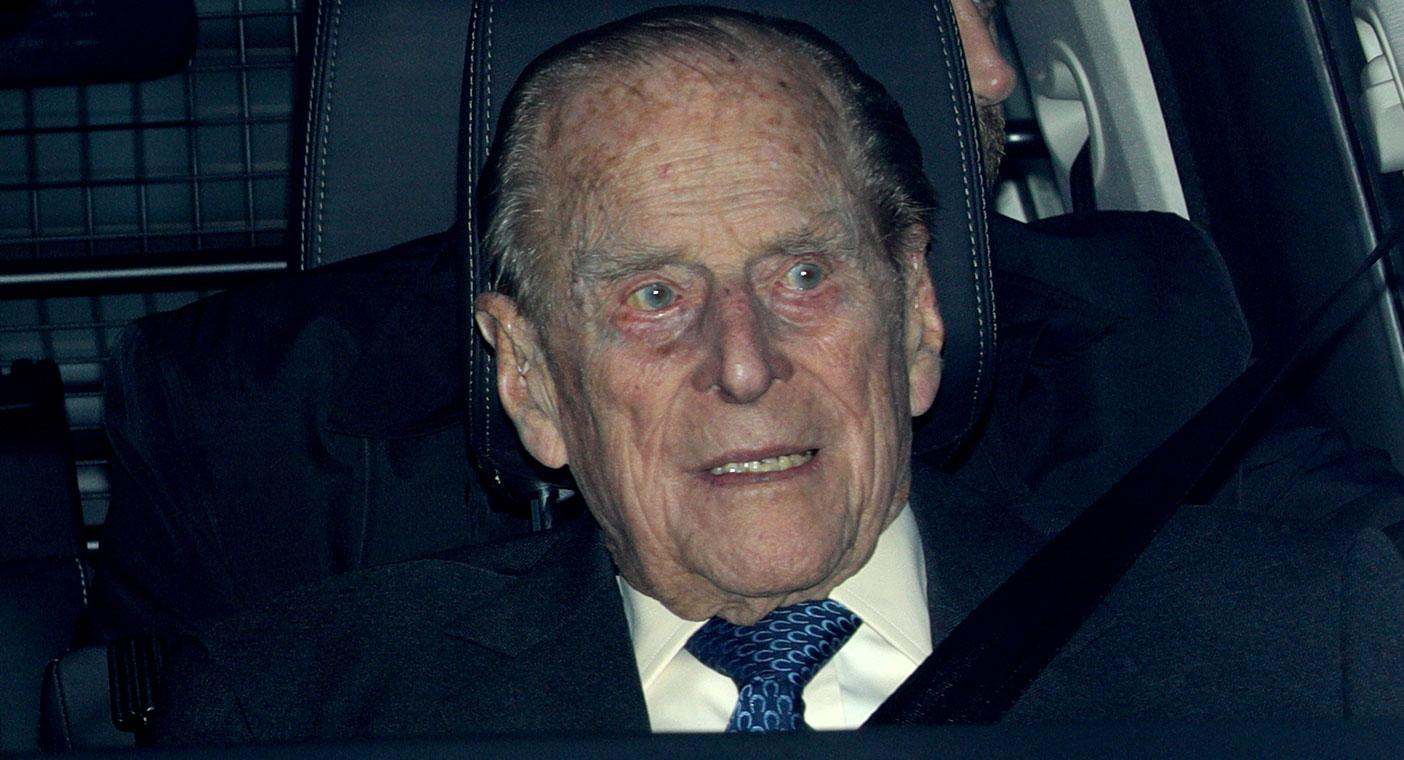 Prince Philip uninjured after auto crash; Queen's husband is 97