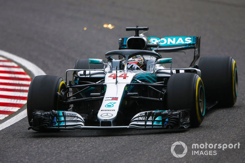 """Mercedes AMG F1 W09 EQ Power+ (2018)<span class=""""copyright"""">Andy Hone / Motorsport Images</span>"""