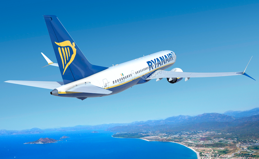 Future flight: a Ryanair publicity image of its new Boeing 737 Max (Ryanair)