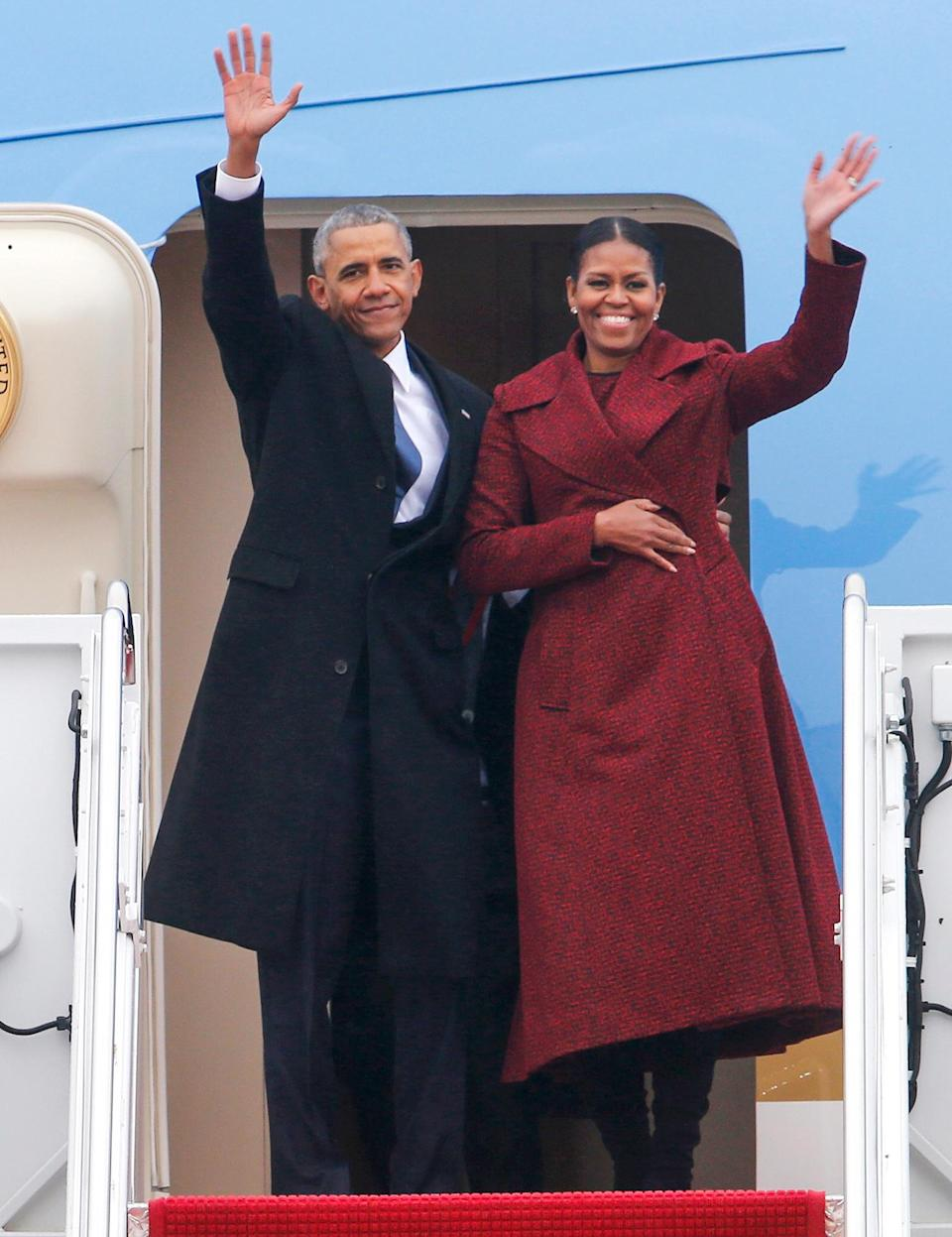 """<p>""""Michelle never asked to be first lady,"""" Barack told <em><a href=""""https://www.vogue.com/article/michelle-obama-december-cover-interview-first-lady-white-house-departure"""" rel=""""nofollow noopener"""" target=""""_blank"""" data-ylk=""""slk:Vogue"""" class=""""link rapid-noclick-resp"""">Vogue</a> </em>in 2016. """"Like a lot of political spouses, the role was thrust upon her. But I always knew she'd be incredible at it, and put her own unique stamp on the job. That's because who you see is who she is — the brilliant, funny, generous woman who, for whatever reason, agreed to marry me. I think people gravitate to her because they see themselves in her — a dedicated mom, a good friend, and someone who's not afraid to poke a little fun at herself from time to time.""""</p>"""