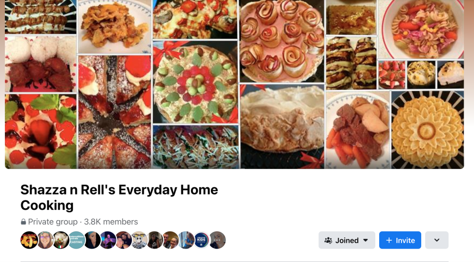 Sherrie's Facebook cooking group. Photo: Facebook