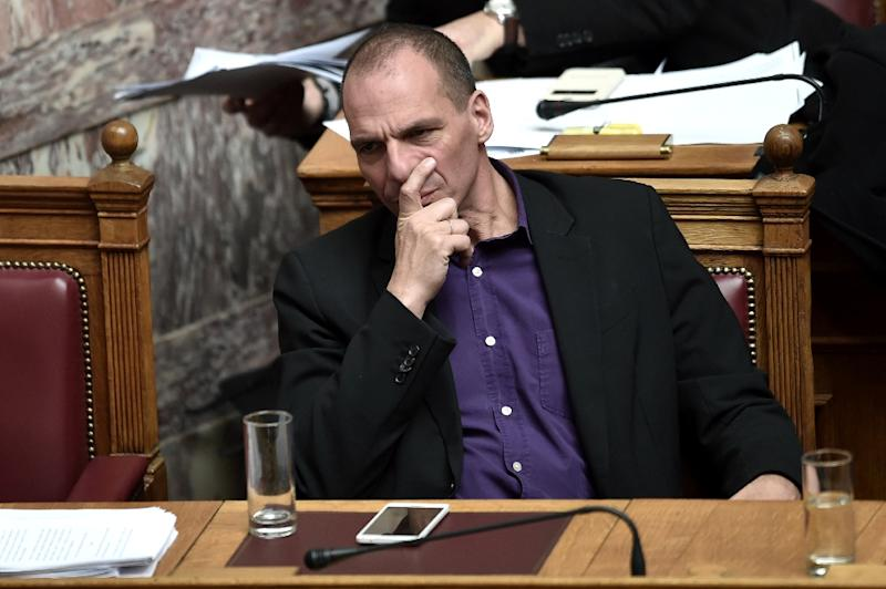 A German TV presenter admitted to faking a video showing Greek Finance Minister Yanis Varoufakis, pictured, giving the middle-finger gesture to Germany, after the politician vehemently contested its authenticity