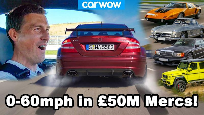 Carwow does 0-60 mph tests of rare Mercedes models