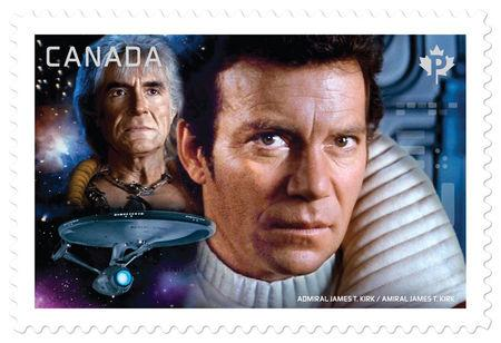A Star Trek stamp, part of a set of seven issued by Canada Post, is pictured in this undated handout photo obtained by Reuters April 28, 2017.   Canada Post/Handout via REUTERS