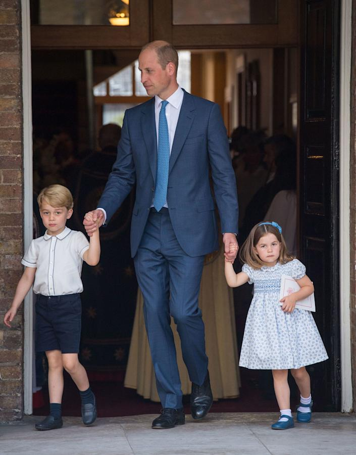 princess charlotte prince William prince George at prince louis' christening