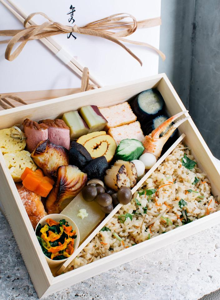 Bento box from Hayato located in Los Angeles. (Hayato)