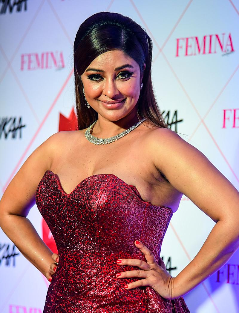 In this picture taken on February 18, 2020, Bollywood actress Payal Ghosh poses for photographs as she arrives at the 'Nykaa Femina Beauty Awards 2020' in Mumbai. (Photo by Sujit Jaiswal / AFP) (Photo by SUJIT JAISWAL/AFP via Getty Images)