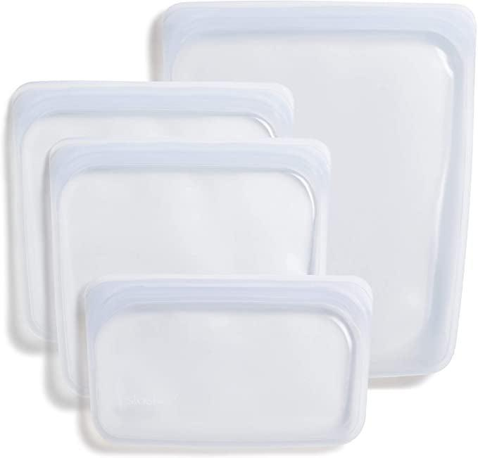<p>Store left overs, meal prep necessities and more with these <span>Stasher Platinum Silicone Food Grade Reusable Storage Bag, Clear (Bundle 4-Pack Small) </span> ($43). They are leak-proof and dishwasher safe. </p>