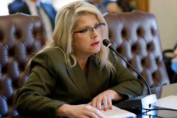 PHOTO: In this Jan. 28, 2015, file photo, Sen. Linda Collins-Smith, R-Pocahontas, speaks at the Arkansas state Capitol in Little Rock, Ark. (Danny Johnston/AP, File)