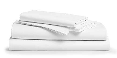 Comfy Sheets Luxury 100% Egyptian Cotton - Genuine 1000 Thread Count 6 Piece Queen White Sheet…