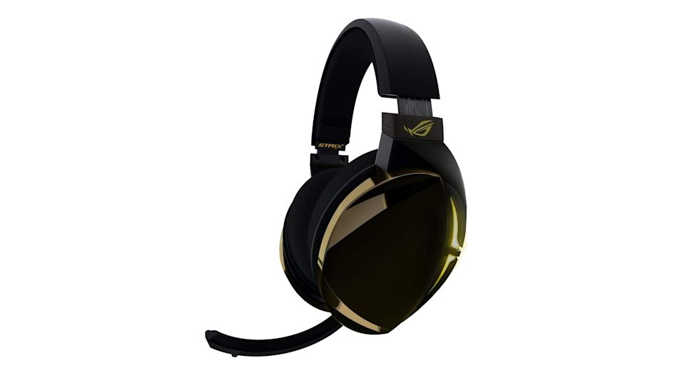 """This gaming headset is perfect for tech-heads wanting to stay connected with players all over the world. It offers versatile connectivity with USB 2.0 for wired gaming on your computer and Nintendo Switch and Bluetooth for you to pick up calls or listen to music wirelessly. It also features a hi-fi ESS 9018 digital-to-analog converter as well finely tuned ASUS Essence drivers and airtight chamber technology for an immersive audio experience. <a href=""""https://www.amazon.co.uk/ASUS-Headset-Bluetooth-hi-fi-grade-surround/dp/B07FYRRMJ9?tag=yahooukedit-21 """" rel=""""nofollow noopener"""" target=""""_blank"""" data-ylk=""""slk:Shop now"""" class=""""link rapid-noclick-resp""""><strong>Shop now</strong></a><strong>.</strong>"""