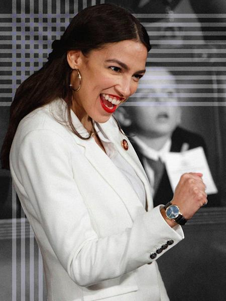 Why the congresswoman's best-known look—red lip and big gold hoops—really matters.