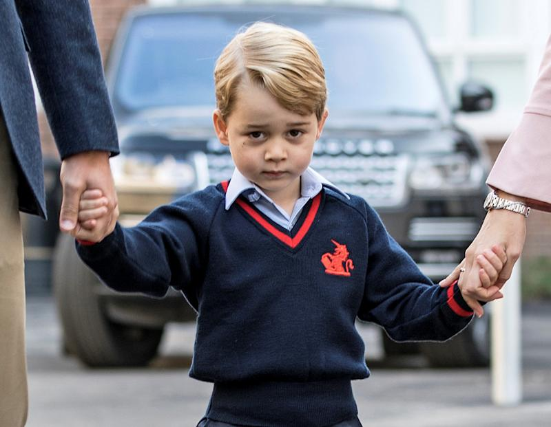 Very Rev. Kelvin Holdsworth's comments about Prince George, 4, resurfaced in the wake of the royal engagement news. (POOL New / Reuters)