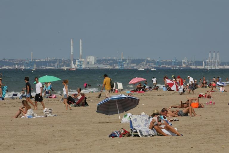 The beach of French resort Deauville, where the French Fab Tour is hoping to get young people interested in factory work (AFP Photo/ludovic MARIN)