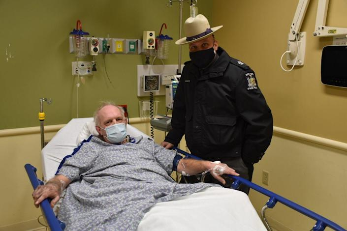 Kevin Kresen was suffering from hypothermia and frostbite when officials rescued him. / Credit: New York State Police