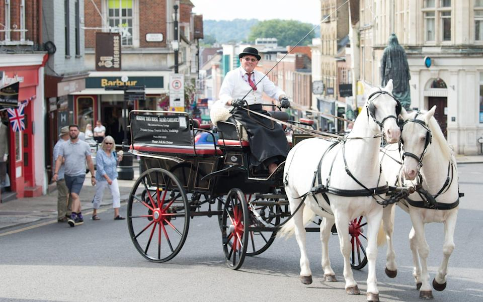 Peter Langthorne, owner and carriage driver of Windsor Town Horse Drawn Carriages - Fiona Hanson