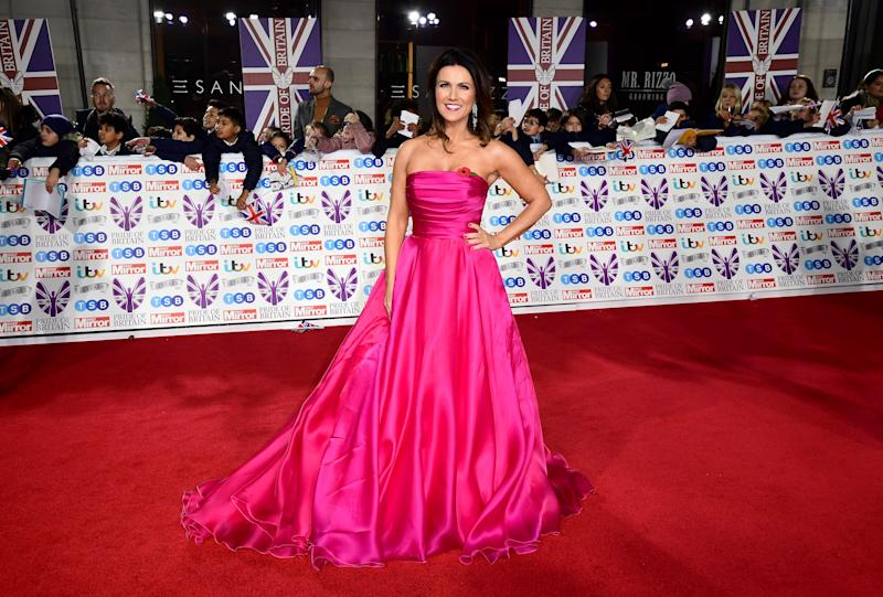 Susanna Reid arriving for the Pride of Britain Awards held at the The Grosvenor House Hotel, London. (Photo by Ian West/PA Images via Getty Images)
