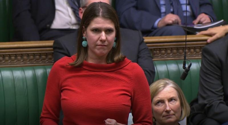 Liberal Democrat leader Jo Swinson during the election debate ahead of the vote in the House of Commons, London.