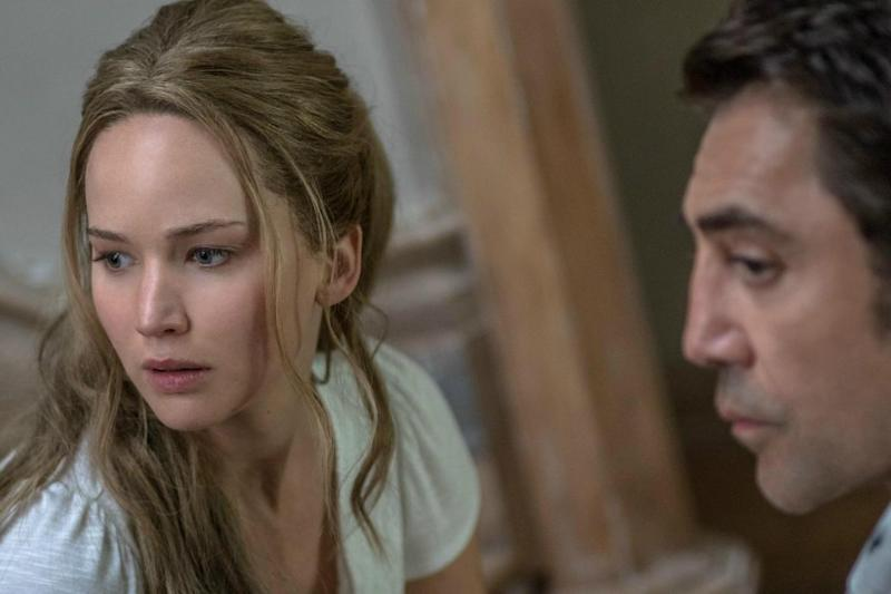 Jennifer Lawrence and Javiar Bardem star in Aronofsky's new film, 'Mother!'