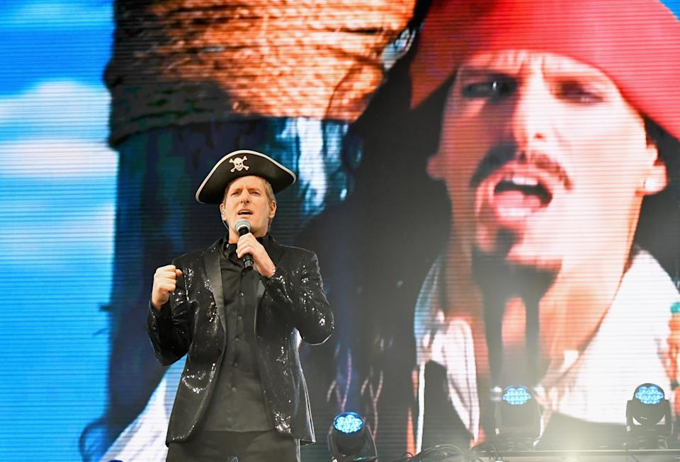 Michael Bolton performs with the Lonely Island at Clusterfest in 2018. (Photo: Jeff Kravitz/FilmMagic)