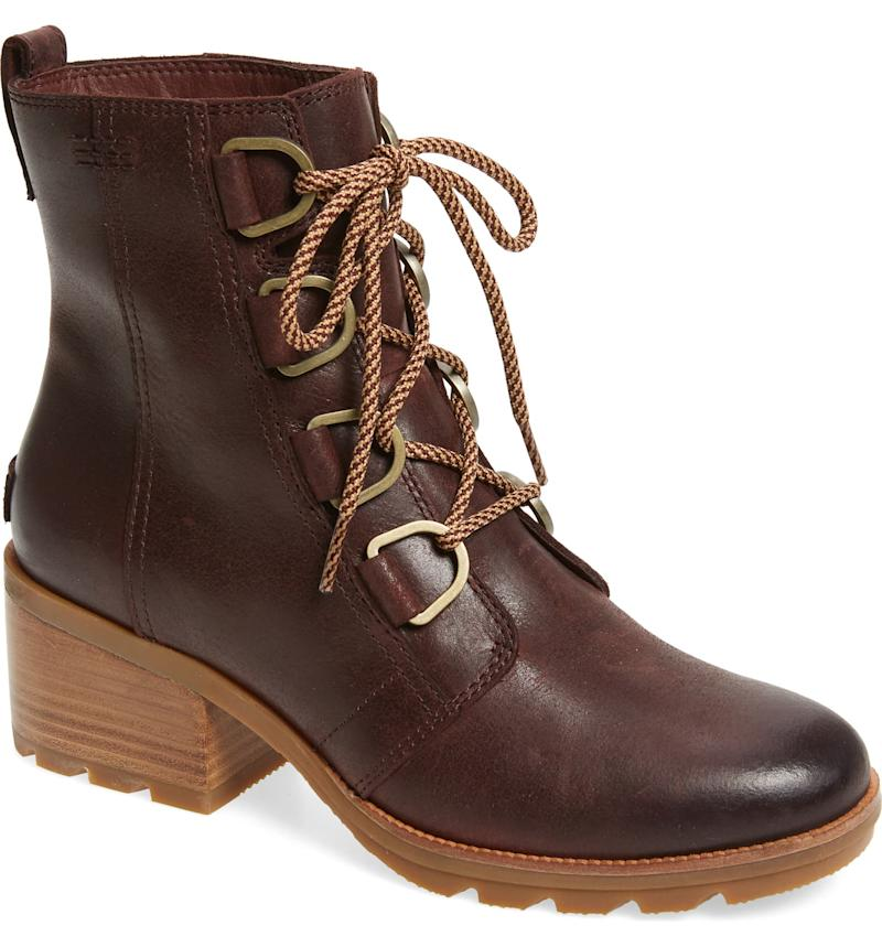 Sorel Cate Waterproof Lace-Up Boot. Image via Nordstrom,