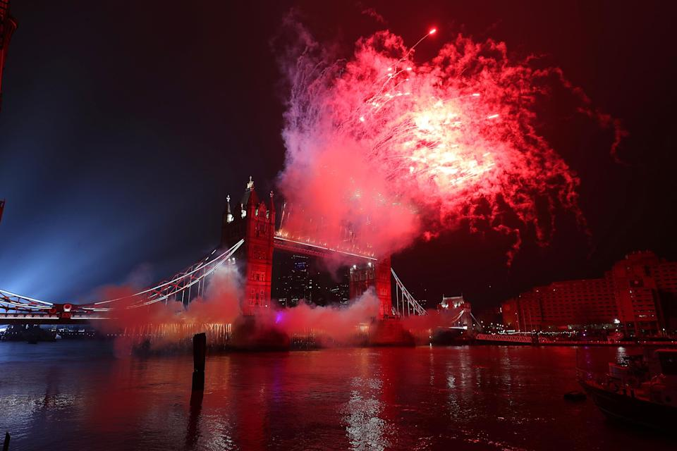 The BBC received 500 complaints over a New Year's Eve fireworks display which included a tribute to the Black Lives Matter movement (Jonathan Brady/PA)