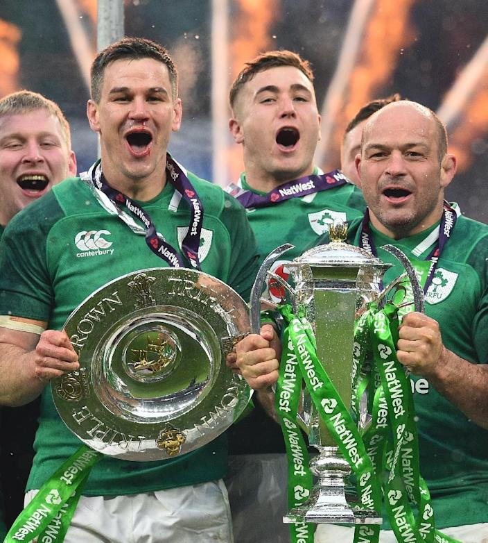 Rory Best (R) has been Ireland captain since 2016 (AFP Photo/Glyn KIRK )